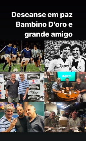 Homenagem de Zico a Paolo Rossi