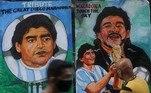 A figura do craque argentino também foi pintada em muros da cidade de Mumbai, a mais populosa da ÍndiaHotel na Índia guarda tudo o que Maradona tocou em hospedagem