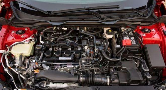Motor 1.5 turbo tem 208cv, injeção direta de combustível e duplo comando de válvulas variáveis