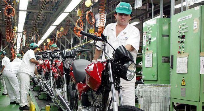 Linha de produção da Honda que será retomada apenas em 19 de maio na cidade de Manaus