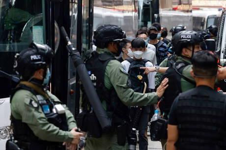 Dezenas foram presos em Hong Kong