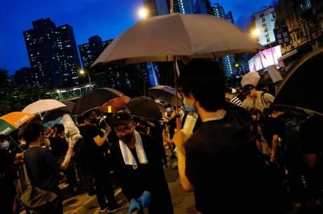 Manifestantes são contra a Lei extradição