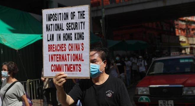 Moradores de Hong Kong seguem protestando contra lei de segurança nacional