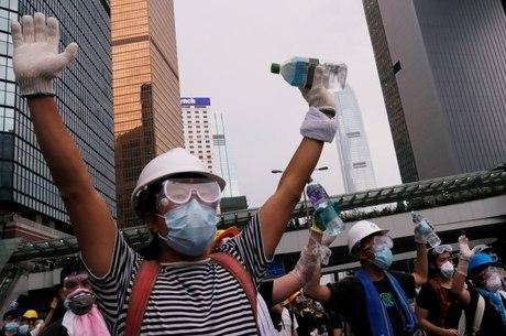 Maioria dos manifestantes em Hong Kong é jovem