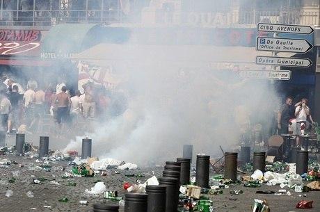 Confusão nas ruas de Marselha, na França