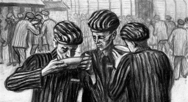 """Obra """"Hora da comida em Auschwitz"""""""