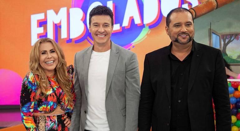 """Geraldo Luís e Joelma participam do game """"Embolados"""" com a """"Deise do Tombo"""""""