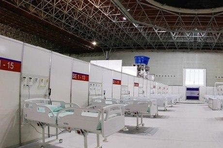 Hospital de campanha foi montado no Expominas