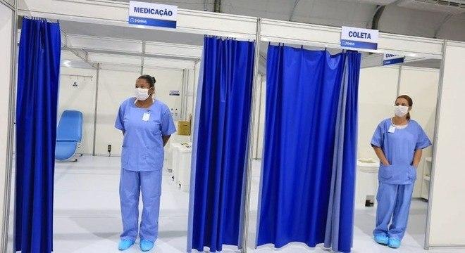 Prefeitura inaugura hospital de campanha em Mauá