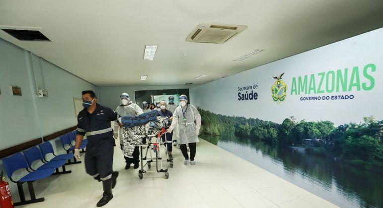 Hospital de Combate ao Covid-19 da Nilton Lins, em Manaus (AM)