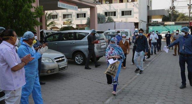 Hospital em Indore registrou um aumento de casos