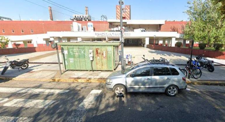 Entrada do hospital pediátrico Garrahan, em Buenos Aires