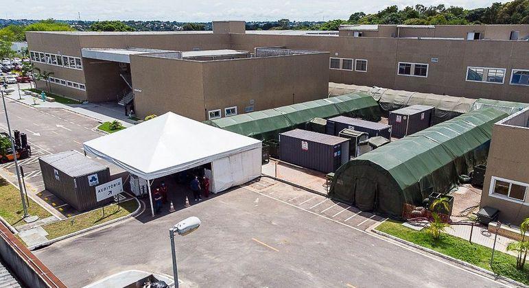 O Hospital Nilton Lins Júnior, em Manaus (AM)