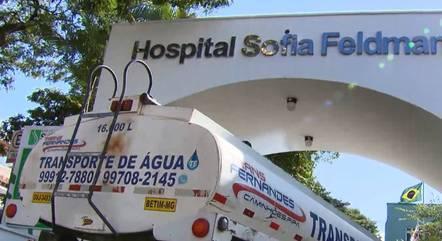 Hospital comprou três caminhões-pipa