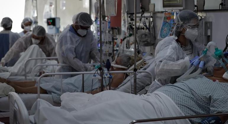 Pacientes internados em UTI com covid-19