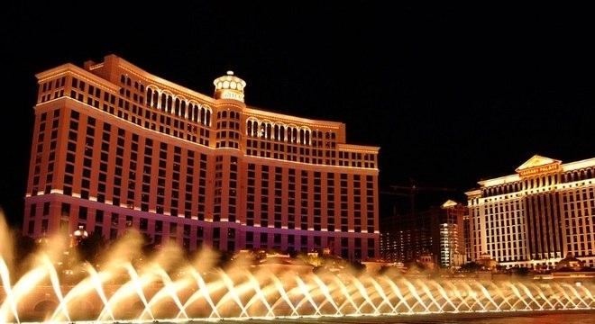 O cassino Bellagio fica dentro do hotel de mesmo nome, em Las Vegas