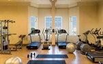 Além dos campos, o hotel tem uma academia moderna e à disposição de Abel Ferreira e sua comissão técnica