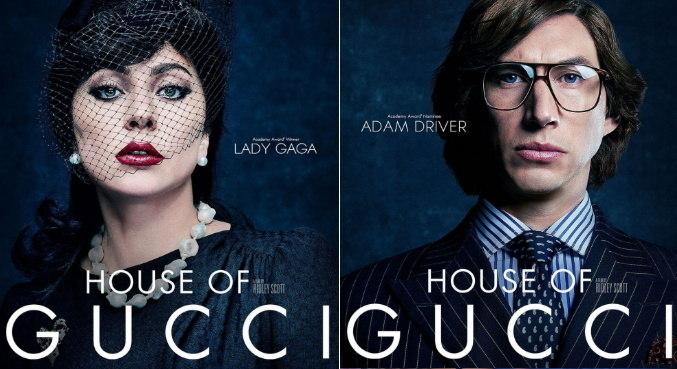 Lady Gaga e Adam Driver nos primeiros cartazes de 'House of Gucci'