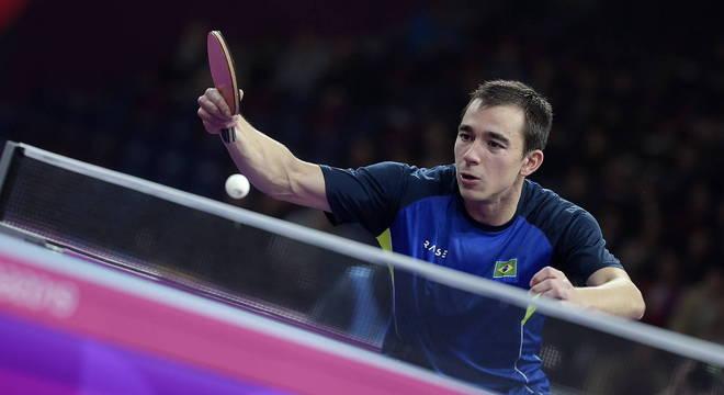 Hugo Calderano  é o atual número 6 do  mundo no tênis de mesas