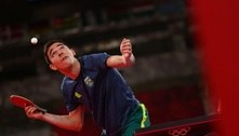 Equipe masculina do tênis de mesa bate Sérvia e vai às quartas de final