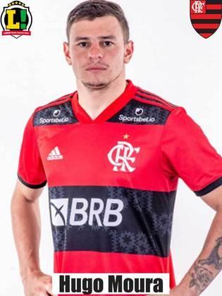 Hugo Moura - 6,5 - Boa atuação do volante. Bem nos combates defensivos e também encontrando espaços para aparecer no ataque.
