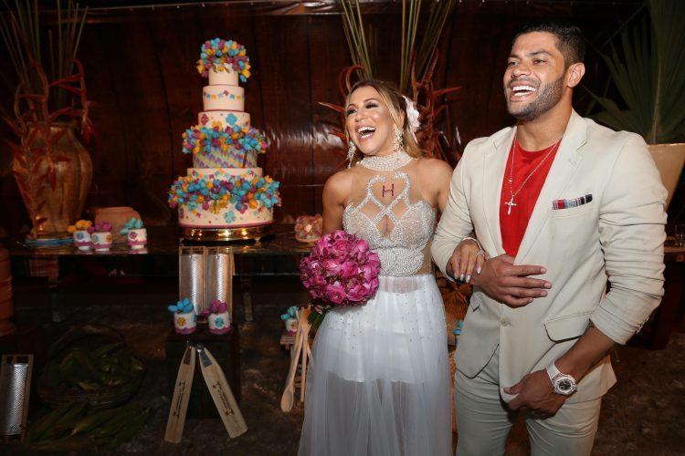 O casamento de Hulk e Iran era muito festejado nas redes sociais