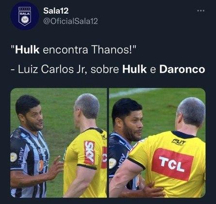 Hulk e Daronco: Encontro já havia acontecido em Atlético-MG x São Paulo e também virado pauta para os memes.