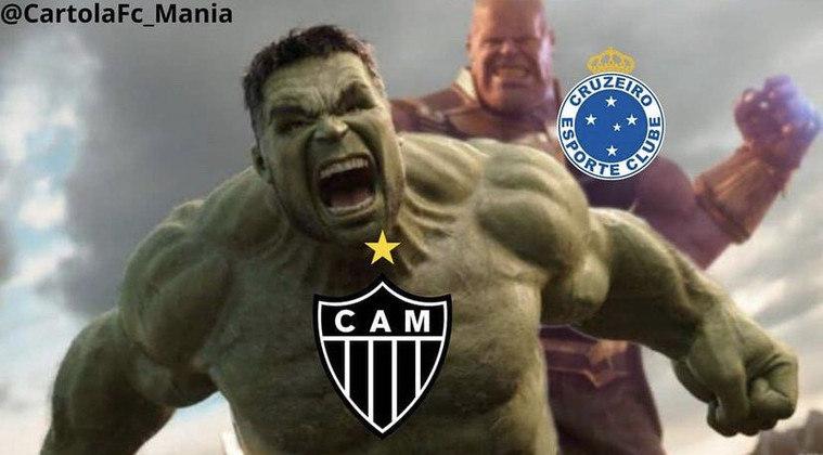 Hulk, expulso após confusão com William Pottker, foi uma das principais vítimas dos cruzeirenses após 1 a 0 pelo Campeonato Mineiro. Veja as provocações! (Por Humor Esportivo)