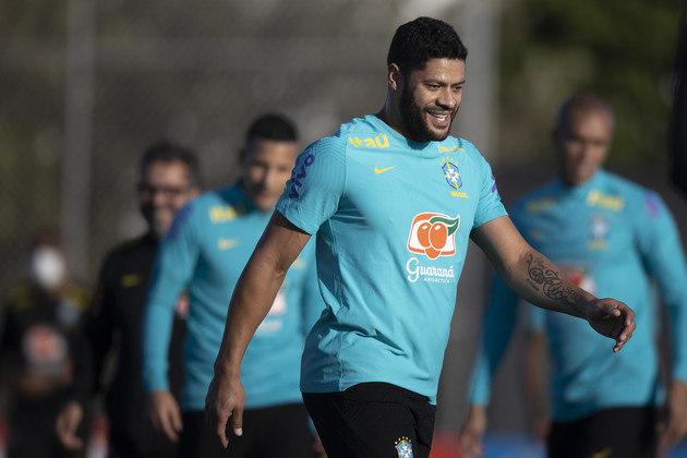 Hulk se mostrou à vontade nos treinamentos da seleção brasileira para as Eliminatórias da Copa