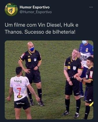Hulk x Thanos? Encontro de Hulk e Daronco rendeu brincadeiras na web.