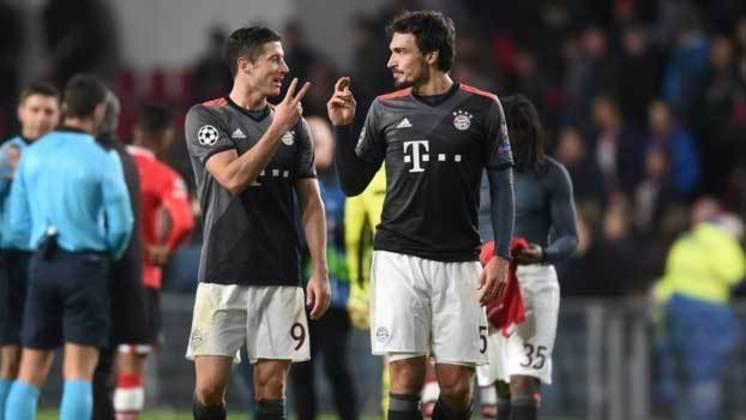 Hummels e Lewandowski: jogaram juntos no Borussia Dortmund e no Bayern de Munique.