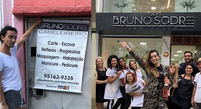 Bruno Sodré em salão no Capão Redondo/atualmente, no próprio studio