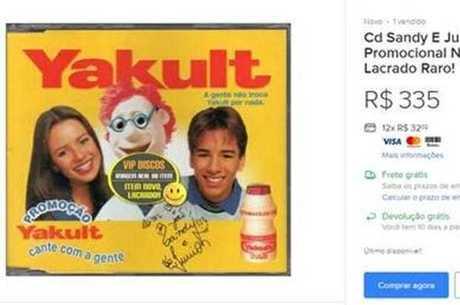 CD 'Yakult' da dupla de irmãos sai por R$ 335