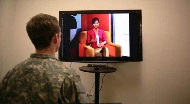 Um terapeuta virtual que analisa a linguagem corporal e o tom de voz usado pelos pacientes pode identificar sinais de depressão ou de TEPT