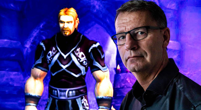 Ibelin, personagem de Mats em World of Warcraft, ao lado do 'pai', Robert Steen