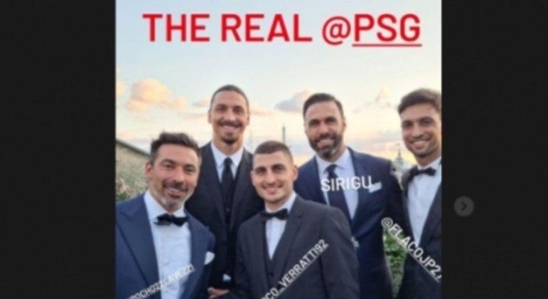 Ibra, Lavezzi, Verratti, Sirigu e Pastore jogaram juntos no clube francês