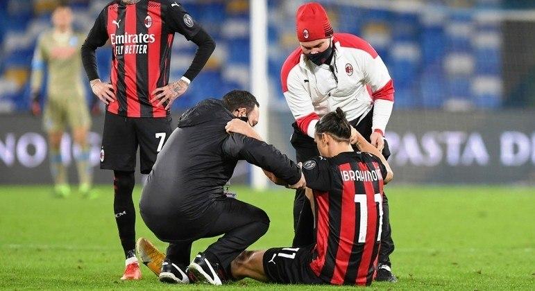 Ibrahimovic, desafortunadamente lesionado