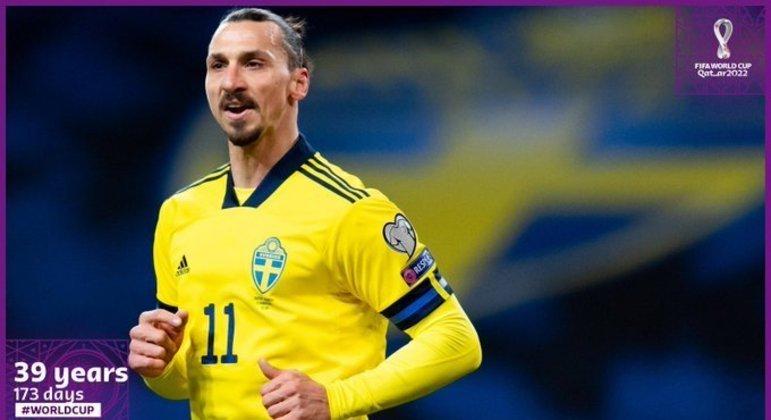 Zlatan Ibrahimovic, o mais velho a vestir a camisa da equipe da Suécia