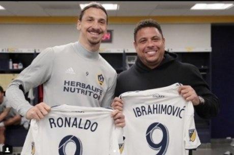 Fenômeno e Ibrahimovic juntos