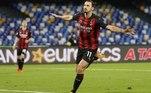 Com dois gols de sua maior estrela, Zlatan Ibrahimovic, o Milan derrotou o Napoli por 3 a 1 neste domingo, fora de casa, no estádio San Paolo, no encerramento da oitava rodada do Campeonato Italiano, e retomou a liderança da competição, ocupada por algumas horas pelo SassuoloO Ibra faz dois gols, se machuca, mas o Milan bate o Napoli, 3 X 1