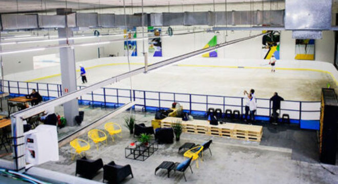 Visão geral da Ice Arena Brasil