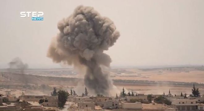 Bombardeios foram realizados em Idlib e na cidade de Latamneh, em Hama