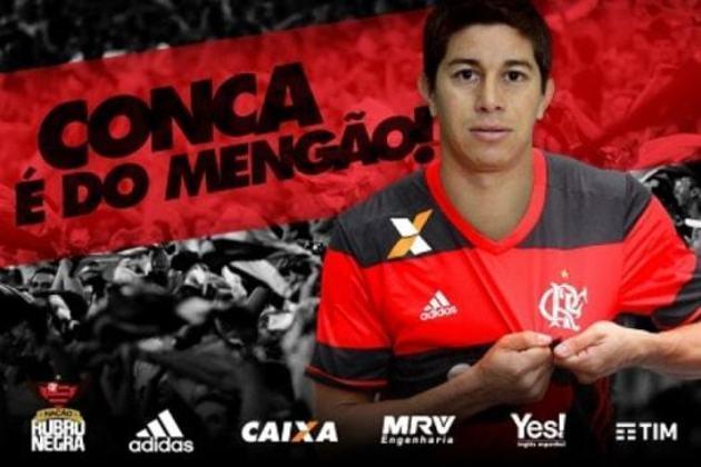 Ídolo do Fluminense, Conca atuou por apenas 27 minutos com a camisa do Flamengo em 2017 e não deixou saudades na torcida