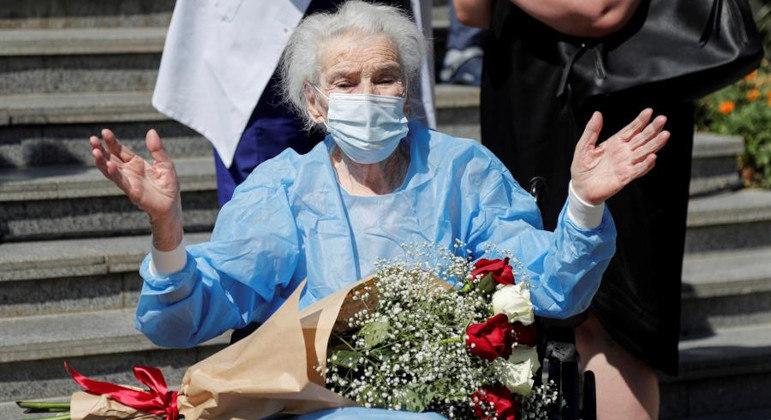 Leonila tem 111 anos e superou a covid-19, na Geórgia