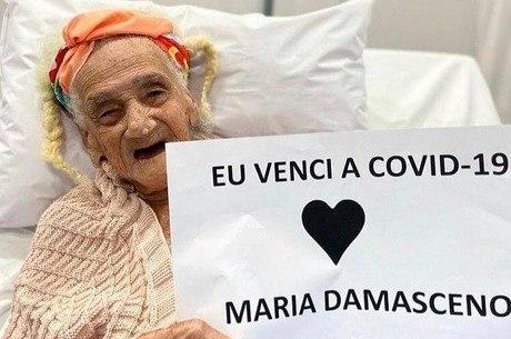 Dona Maria venceu a covid-19 na Bahia