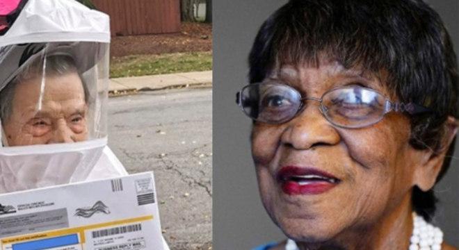 Nem mesmo uma pandemia impediu que essas idosas votassem nas eleições de 2020