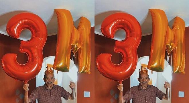 Charles no Instagram comemorando seus 3 milhões de seguidores no TikTok