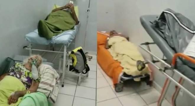 Pacientes aguardaram em uma sala ao lado do corpo de um homem morto