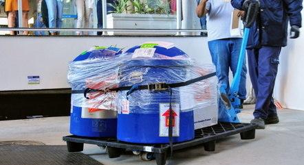 Chegada de IFA à Fiocruz no início de junho