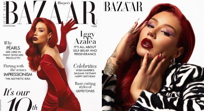 Iggy Azalea na capa da revista Harper's Bazaar Vietnã